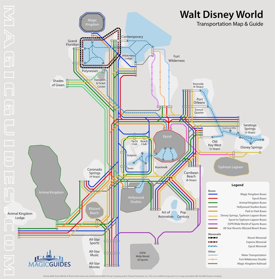 Disney World Transportation Map [Interactive Guide to Navigate Disney]