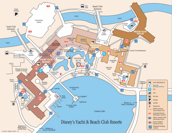 Beach Club and Yacht Club Map