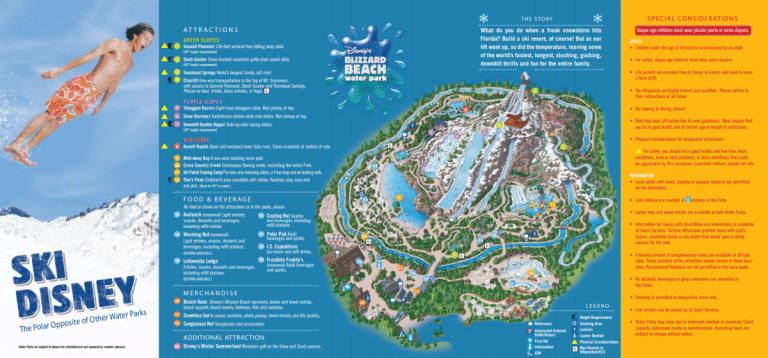 Blizzard Beach Map