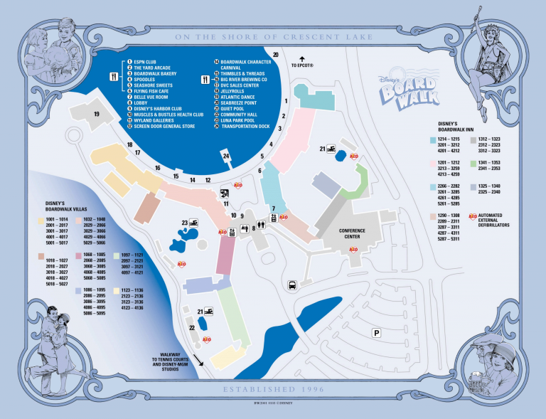 Disney's BoardWalk Inn Map