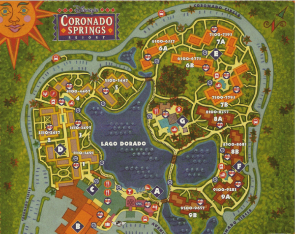 Disney's Coronado Springs Resort Map