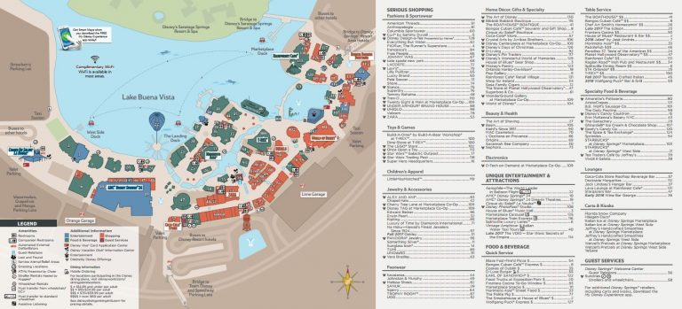 Disney Springs Map