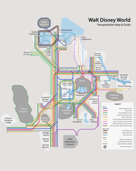 image about Printable Disney Maps called Disney Entire world Map [Maps of the Accommodations, Topic Parks, Drinking water