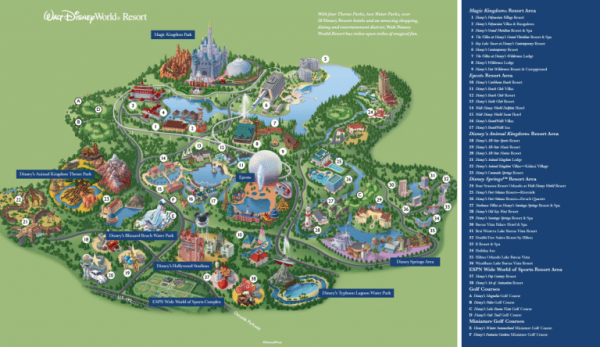 Disney World Theme Parks Map on