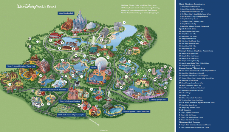 Disney World Resort Map
