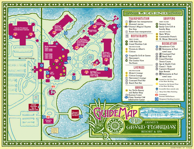 Disney's Grand Floridian Resort Map
