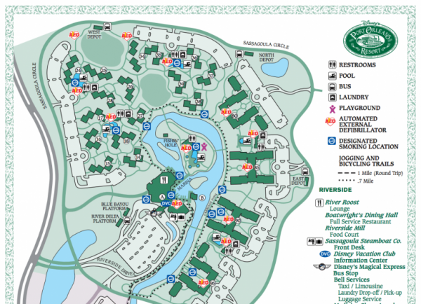 Port Orleans Resort Map