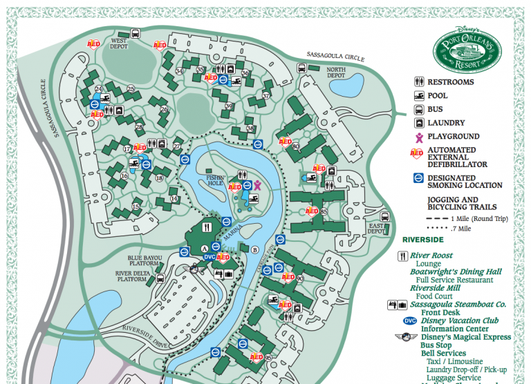 Disney's Port Orleans Resort Map