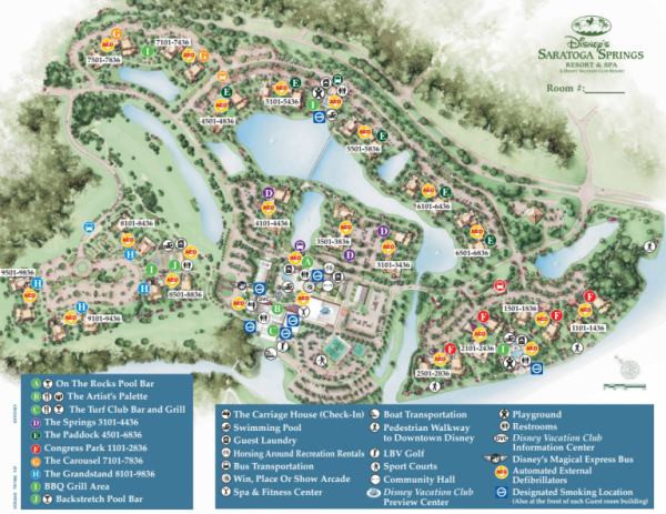 Disney's Saratoga Springs Resort Map