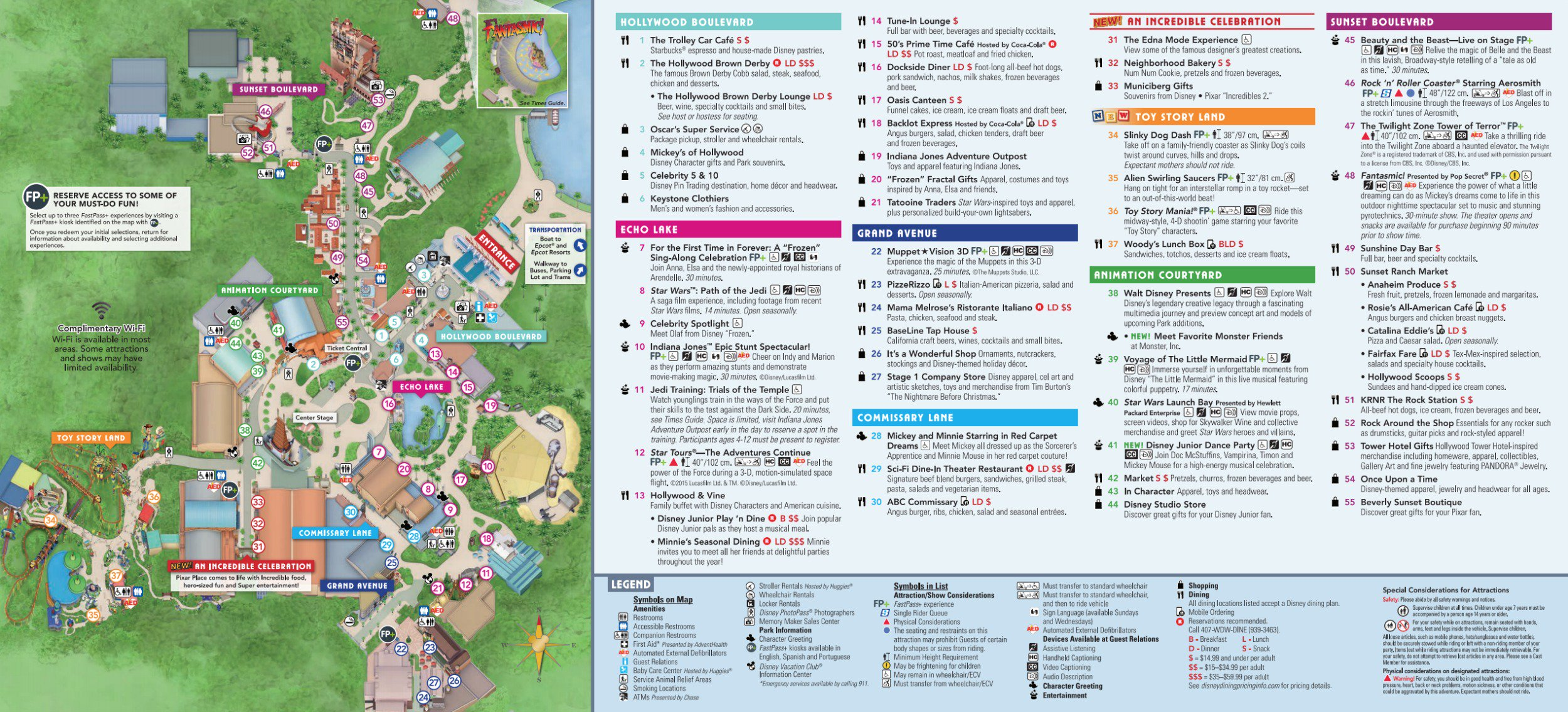 Map Of America Hollywood.Disney World Map Maps Of The Resorts Theme Parks Water Parks Pdf