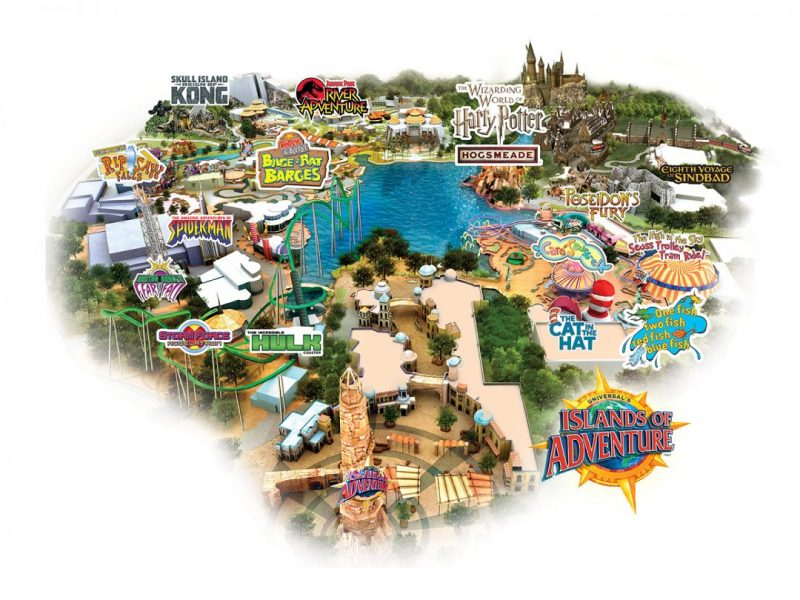 Islands of Adventure Map