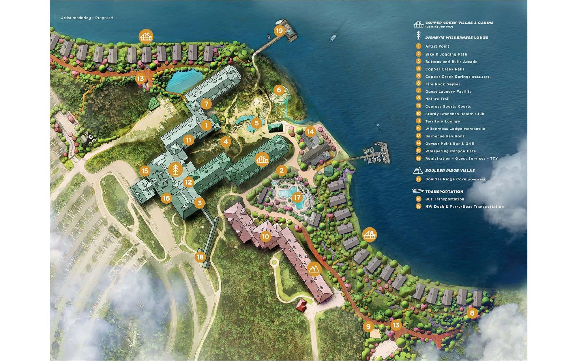Disney Copper Creek map
