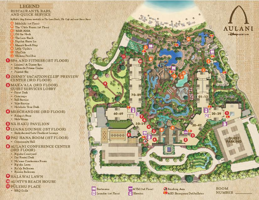 Disney s Aulani Map