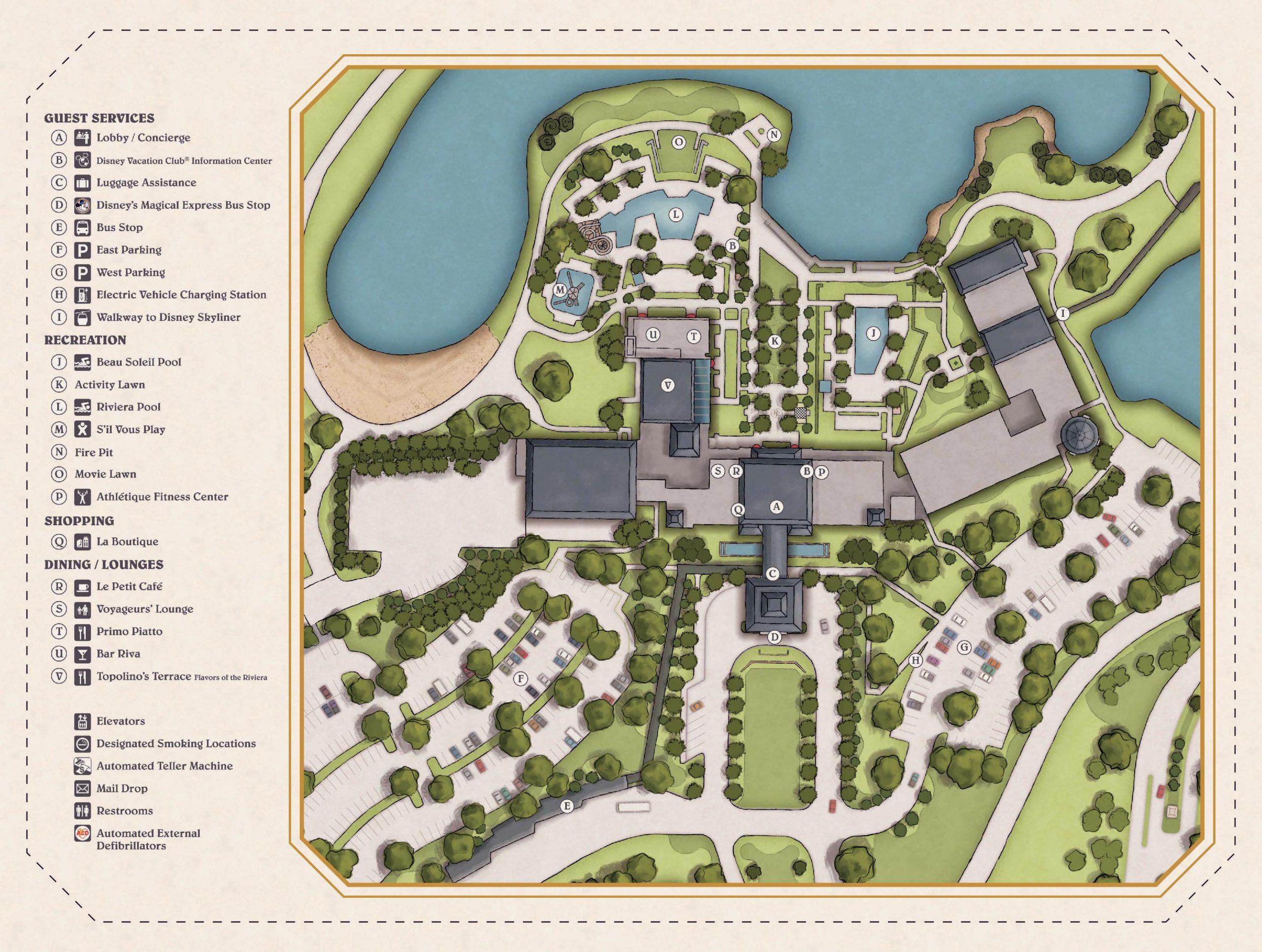 Disney's Riviera Resort Map