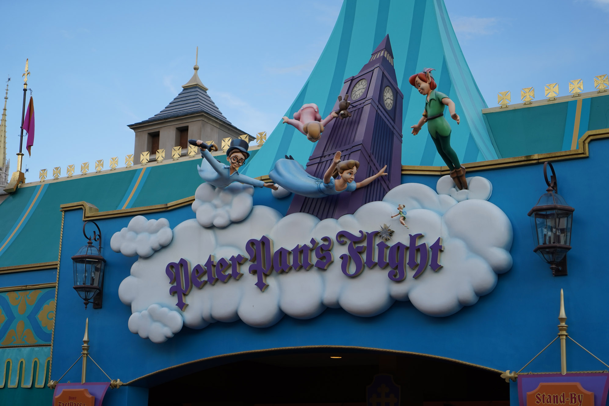 Peter Pan's Flight ride at Magic Kingdom