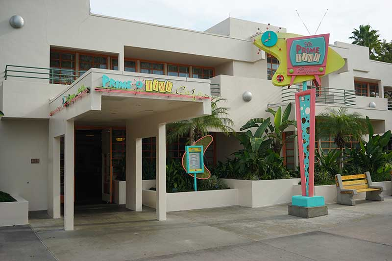Entrance to 50s Prime Time Diner No Crowd