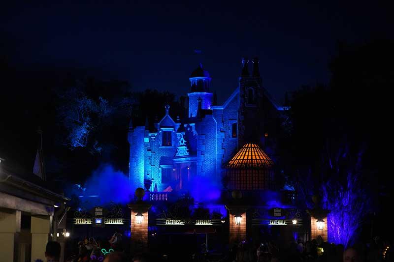Haunted Mansion at night