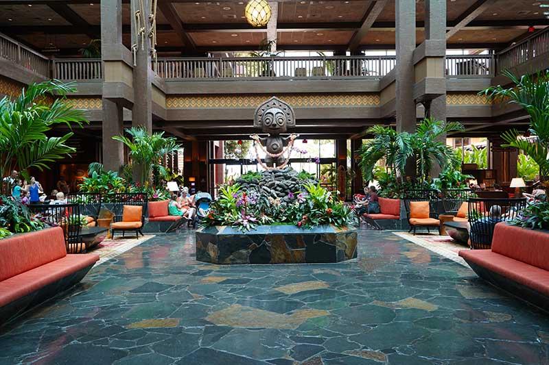 Polynesian Village Disney Deluxe Resort Lobby