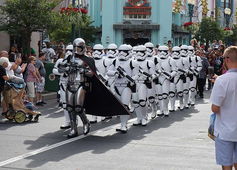 Storm Troopers Marching at Hollywood Studios