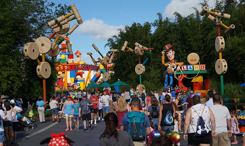Crowds at the Entrance to Toy Story Land