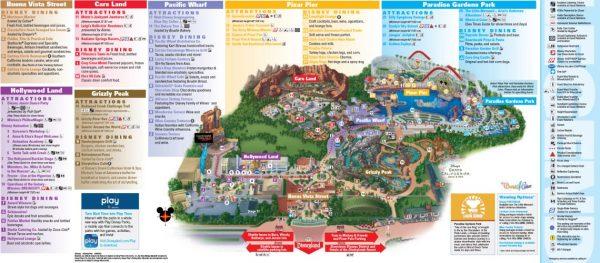 Disney California Adventure Map