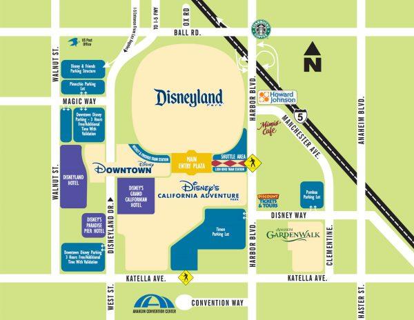 Disneyland Hotels Map