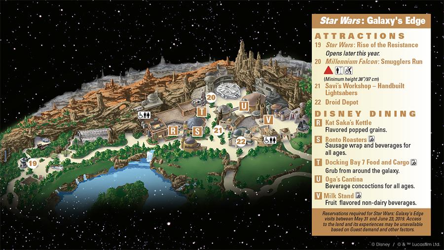 Disneyland Star Wars Galaxy's Edge map