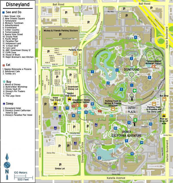 Disneyland Resort Map