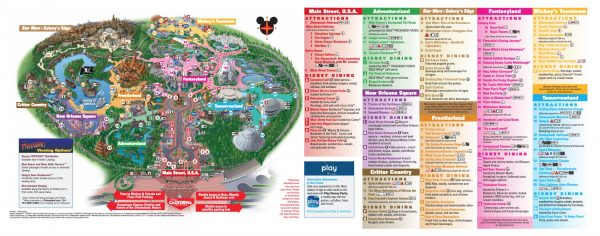 2020 disneyland park map