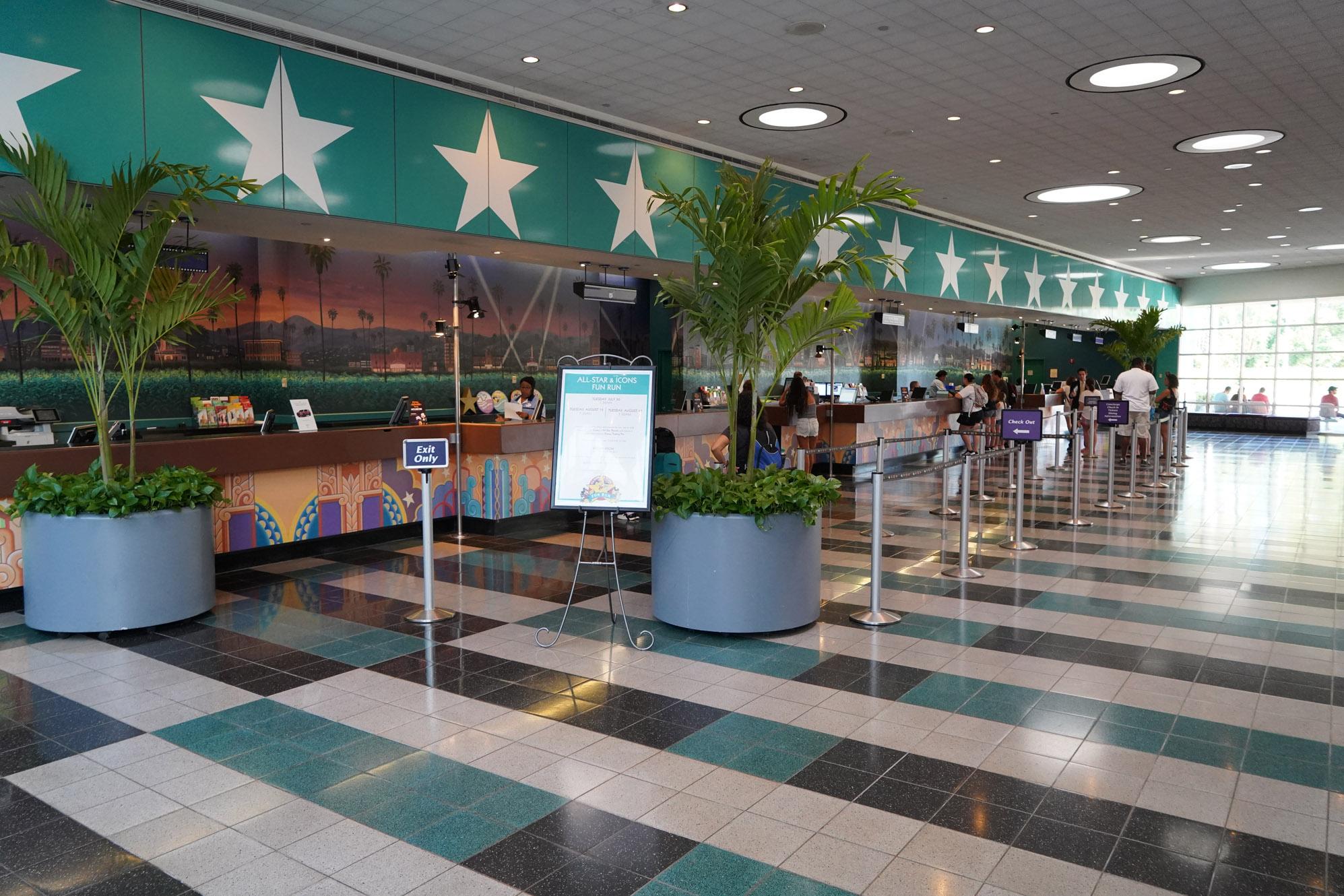 empty Disney hotel lobby
