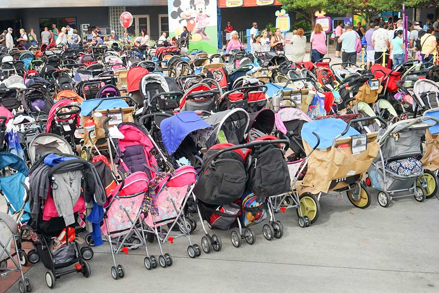 Stroller Parking at Disney World