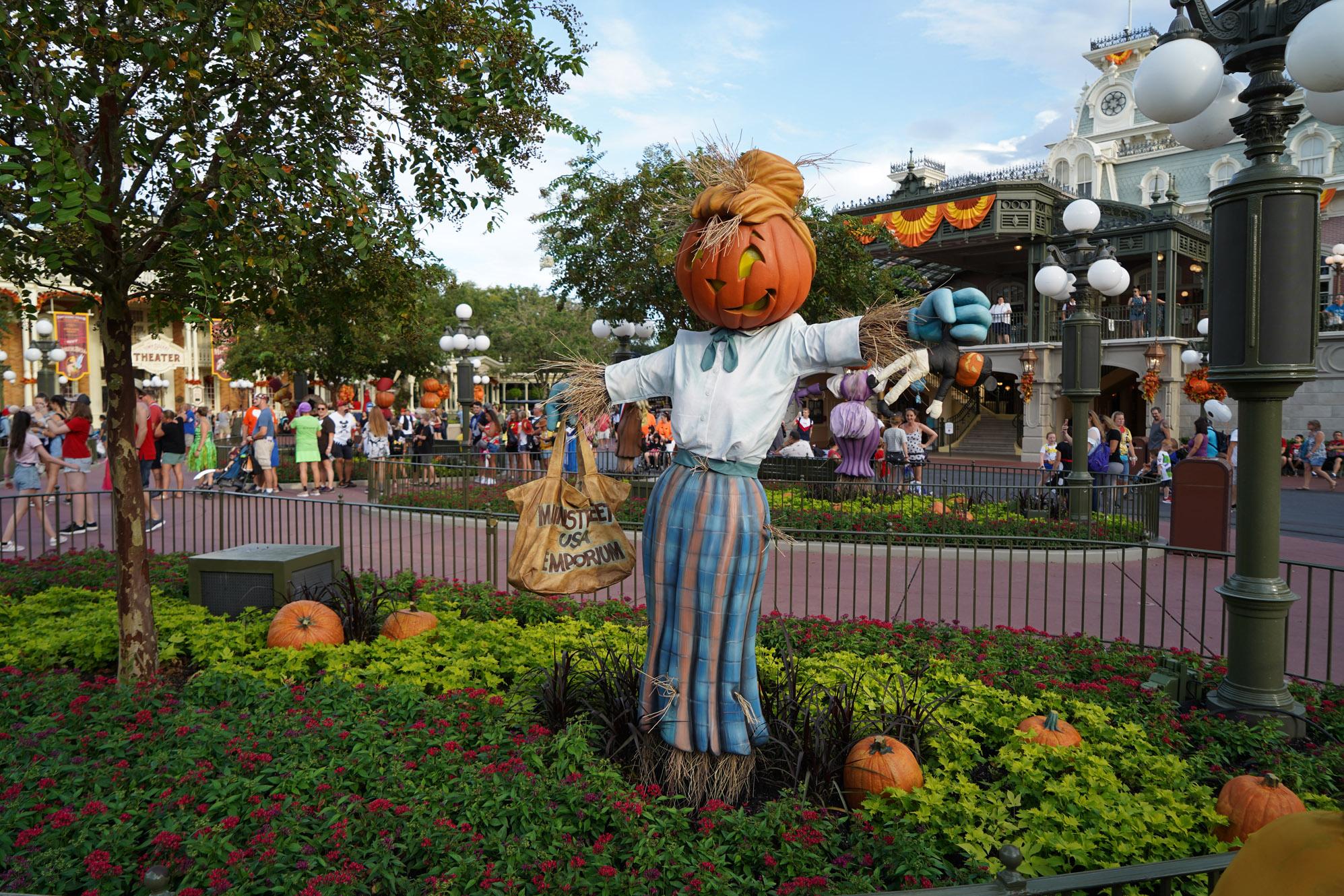 Halloween decorations at Disney World
