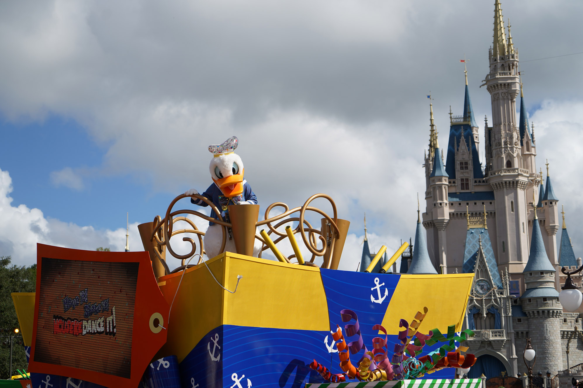 Cinderella Castle and Donald Duck