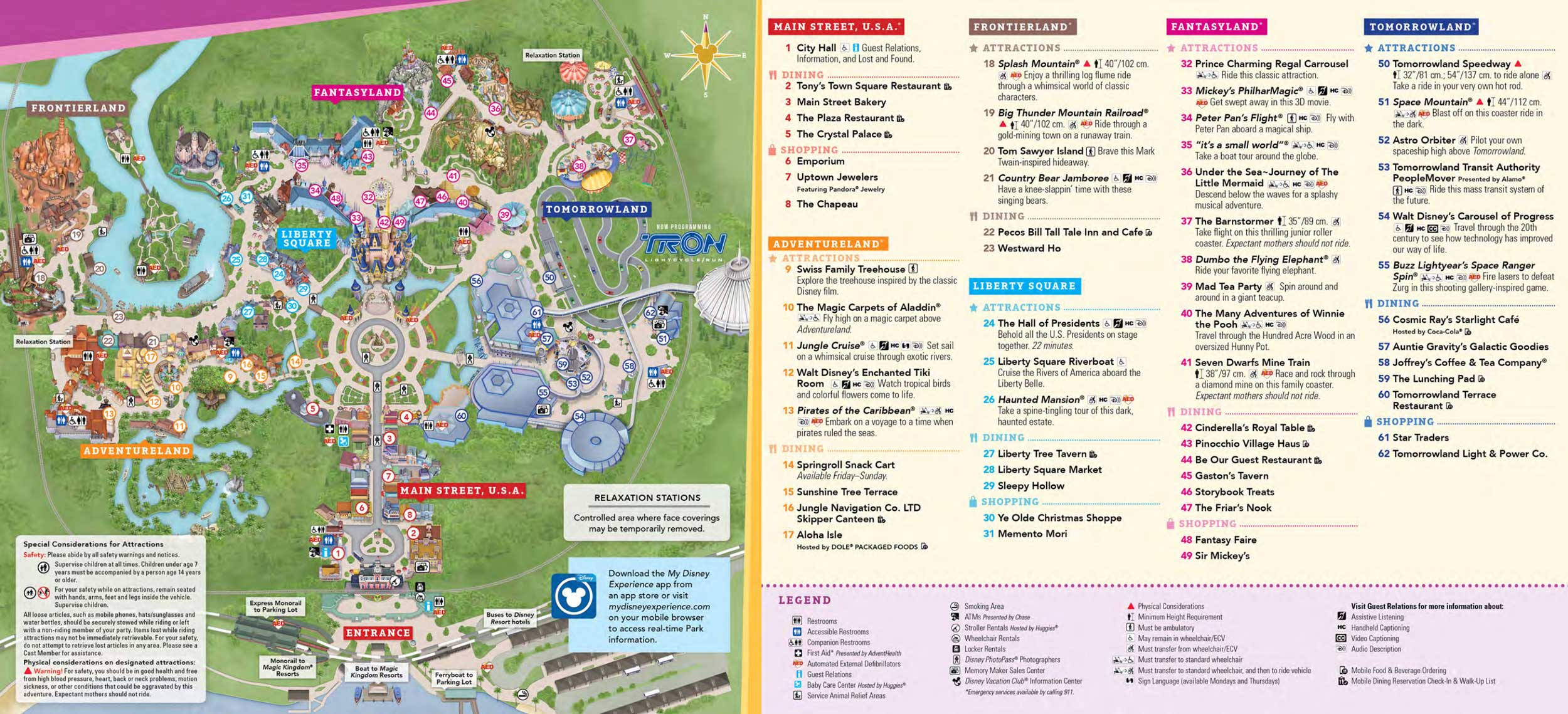 Magic Kingdom Map 2021